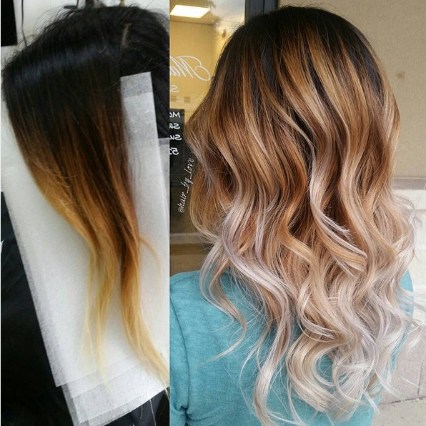 Gorgeous Ombre Balayage Hairstyles - Balayage Highlights - Medium, Long Wavy Hair Styles