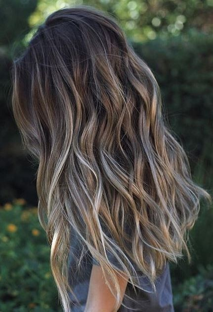 Layered Long Hair Styles - Hair color to try, Balayage highlights