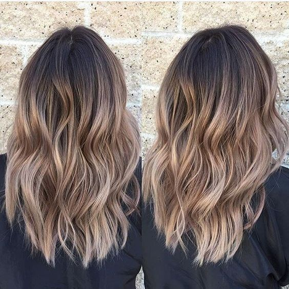 Hairstyles And Color For 2017 : Layered, Wavy Haircuts for Medium Thick Hair - Ombre Hairstyles 2017