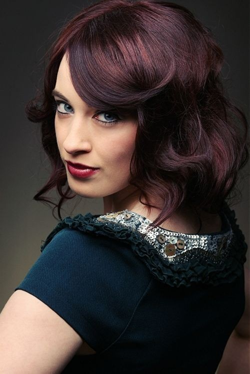 Medium Deep Red Hairstyles
