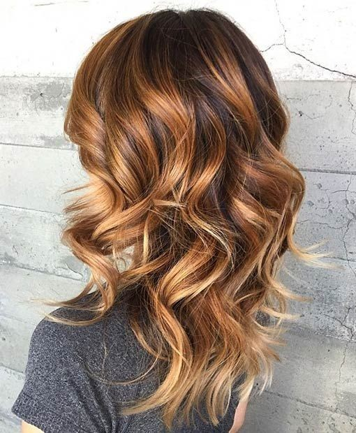 Medium Curly Hairstyles - Hottest Balayage Hair Styles