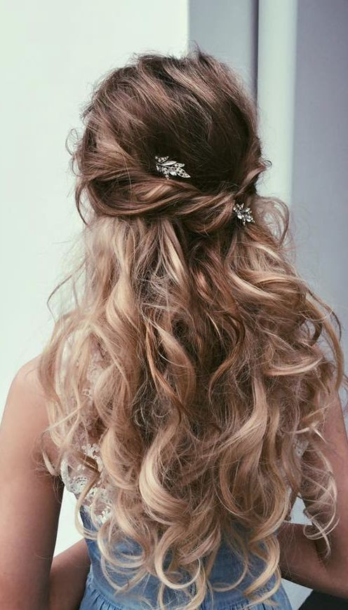 ... Up Half Down Hairstyle with Long Hair - Prom Hairstyles 2016 - 2017