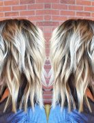Pretty Medium Haircut Ideas - Platinum blonde with a root smudge!