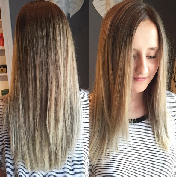 Soft Dark Ash Blonde with Straight Hair - Medium Long Hair Color Ideas