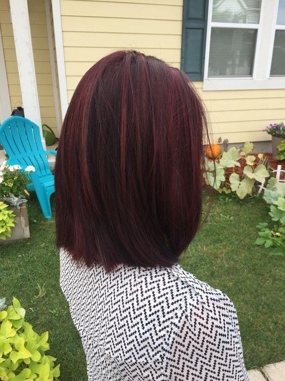 10 Mahagoni Haarfarbe Ideen