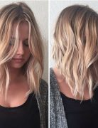 Balayage Shoulder Length Hairstyle - Ombre, Balayage Lob Hair Styles 2017