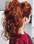 Best High Ponytail Hairstyle with Curls - Curly Long Hair 2017