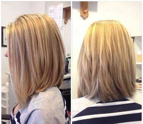 Best Lob Haircut for Women - Blonde Balayage Styles with Medium Length Hair