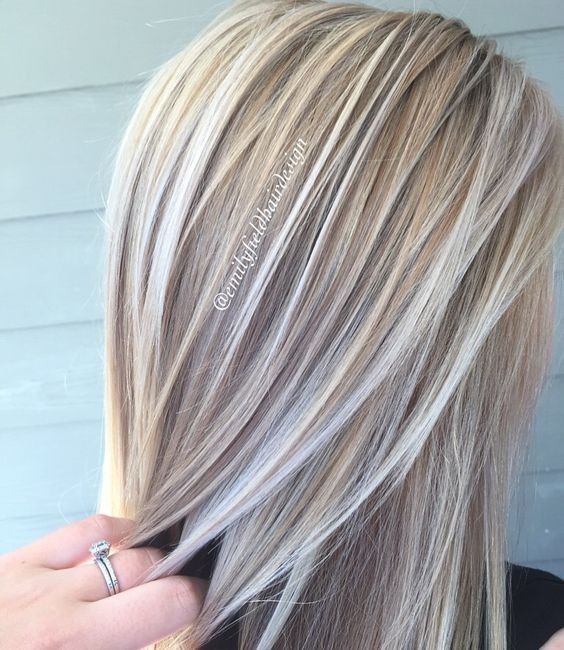Blonde and Platinum White Blonde - Balayage Hairstyle Ideas 2017