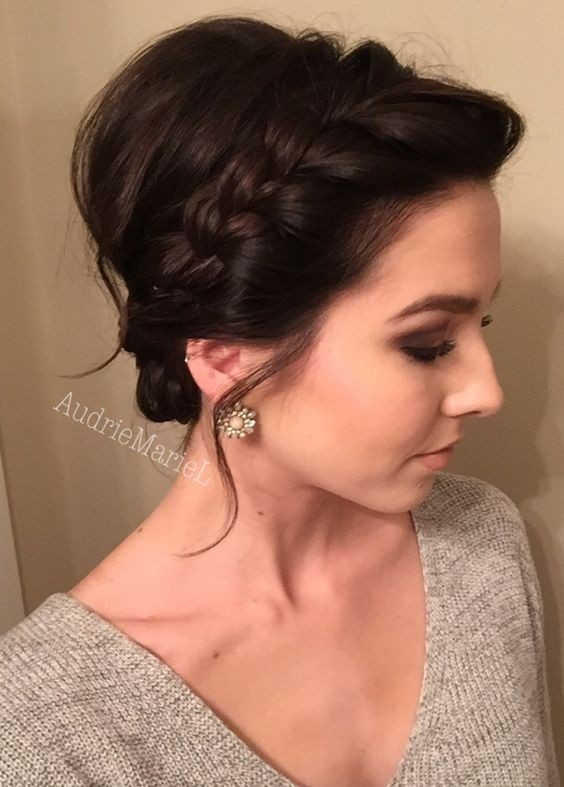 Braided Updo for Short Hair - Prom Hairstyles