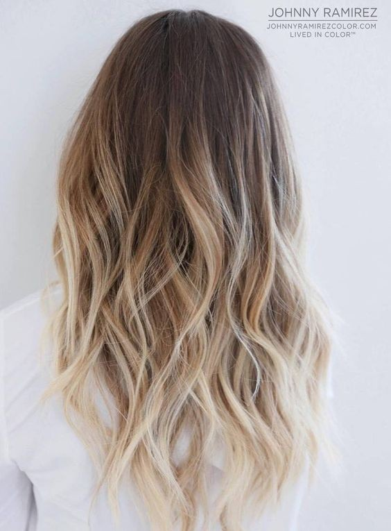Brown to blonde ombre hair  Balayage Hair Color Ideas with Blonde