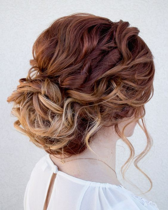 Chic Messy Updo Hairstyle for Long Hair