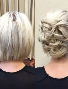 Chic Updo Hair Styles for Short Hair - Bob Hairstyles for Prom 2017