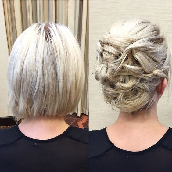 updo styles for short hair 20 gorgeous prom hairstyle designs for hair prom 4527 | Chic Updo Hair Styles for Short Hair Bob Hairstyles for Prom 2017