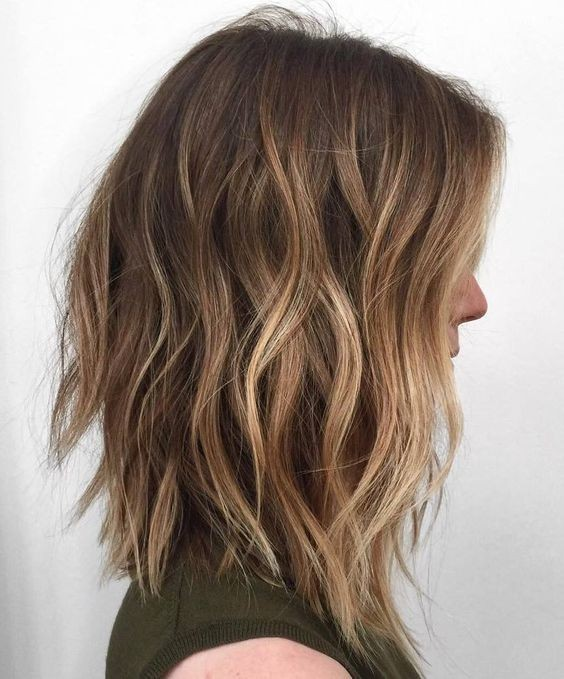 Hairstyles 2017 Brown Hair : Hair Styles with Light Brown - Ombre Balayage Medium Hairstyles 2017 ...