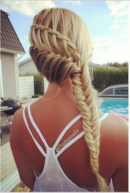 Combo Cool Braided Hairstyle - Summer Hairstyles for Long Hair