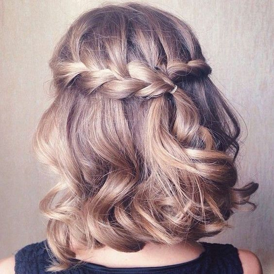 Cool Waterfall Braids for Short Hair