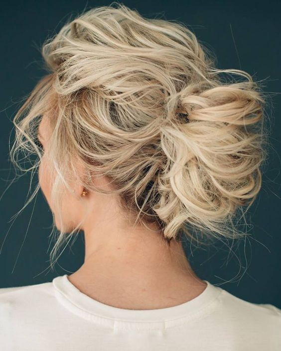 Easy, Messy French Twist Updo Hairstyle