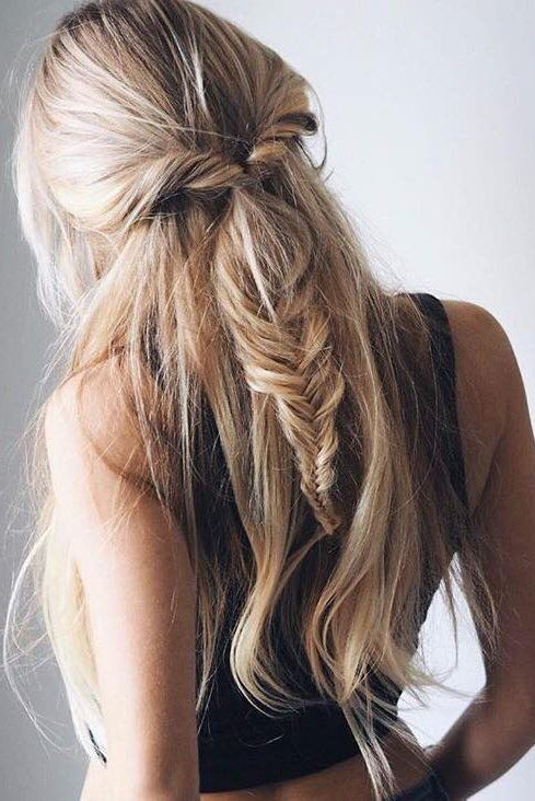 Half-Fishtail Braid ‪Hairstyle