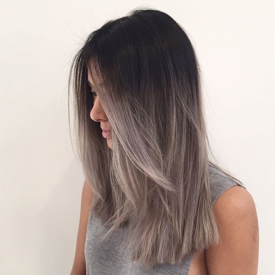 Pastel Ombre Hairstyles Blunt Medium Length Hair Cuts 2017