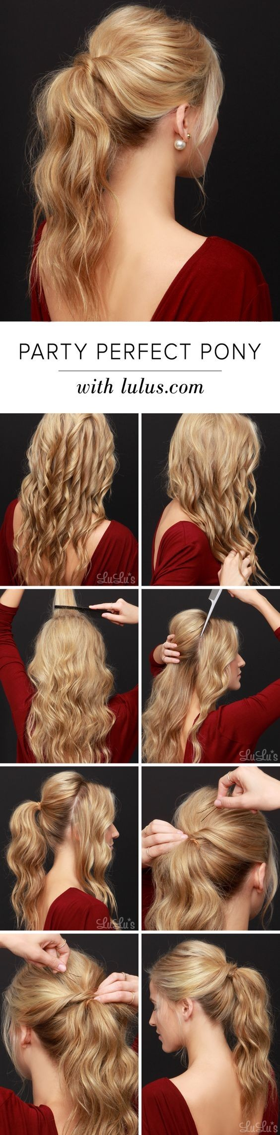 Perfect, Easy Ponytail Hair Tutorial - Ponytail Hairstyles for Long Hair