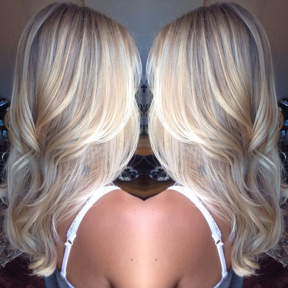Platinum Blonde Balayage Hair Style - Hair Color Designs