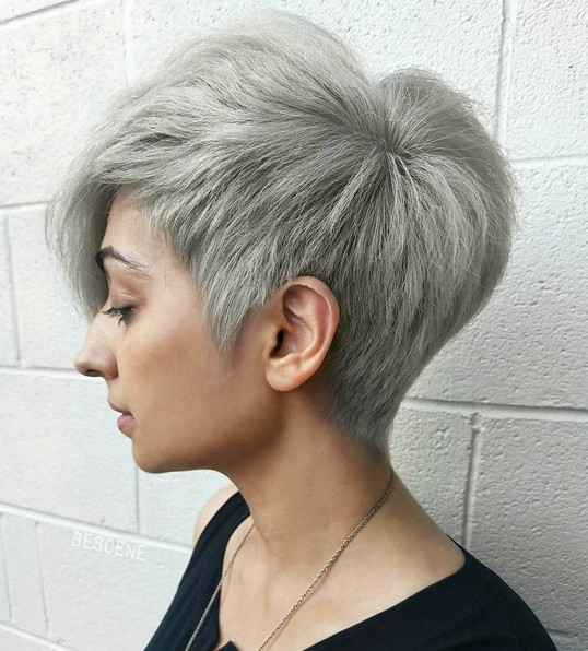 Platinum Blonde Pixie Haircut - Short Hairstyles for Thick Hair 2017