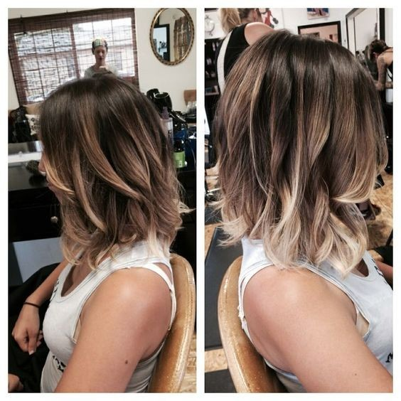 Pretty Layered Lob Hair Styles - Ombre, Balayage Hairstyles 2017