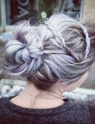 Pretty Messy Updo Hairstyle for Long Hair - Braid Updos 2017