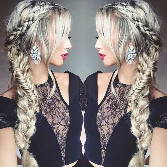 side styles for long hair 10 braided hairstyle ideas stylish hairstyles 2019 6436 | Pretty Side Swept Braid Hairstyle Prom Hairstyles for Long Hair