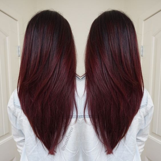 Brown To Red Ombre Long Hair  2017  2018 Best Cars Reviews