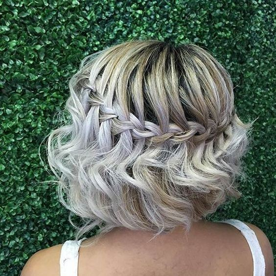 Waterfall Braid for Short Hair - Short Bob Haircut