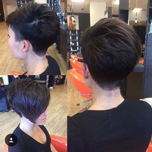 Cool Asymmetrical Taper Fade Bob Cut - Women Short Hairstyles 2017