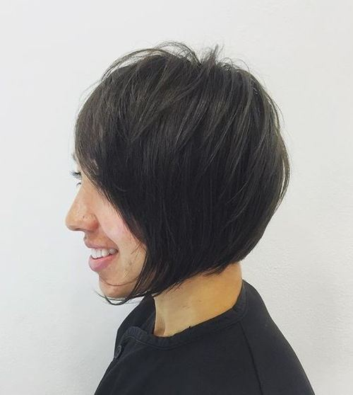Inverted Bob for Brunette