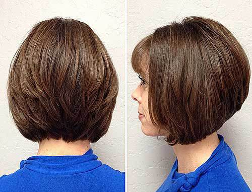 Inverted Bob with Wispy Bangs