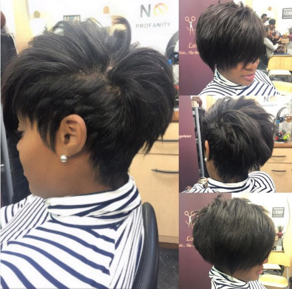 Pretty, Chic Short Pixie Hair Styles - Black Women Short Haircut Ideas 2017