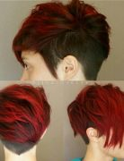 Short, Layered Haircut with Red Hair Color - Summer Hairstyles 2017