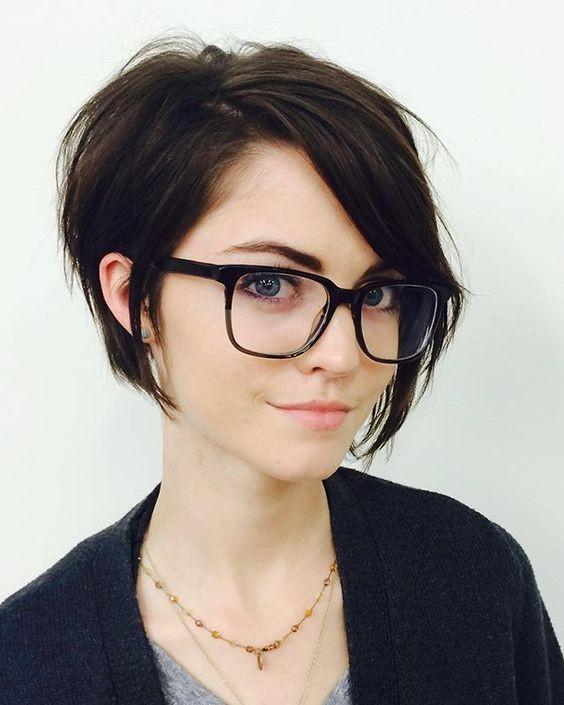 A-ligne de Coiffures Courtes - Asymétrique des cheveux Courts pour les Femmes