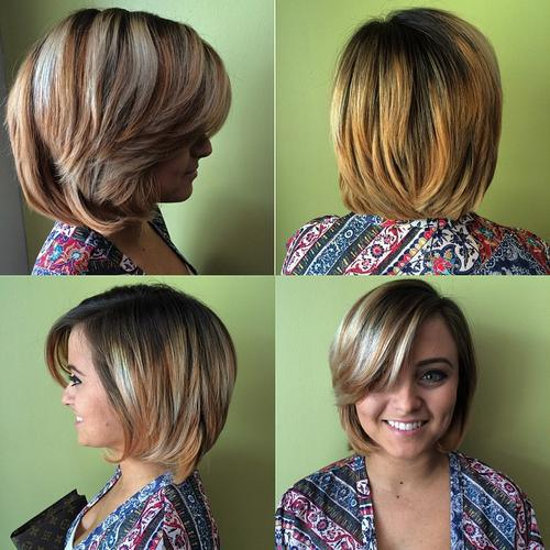 Blondes Haar mit Splitter-Highlights