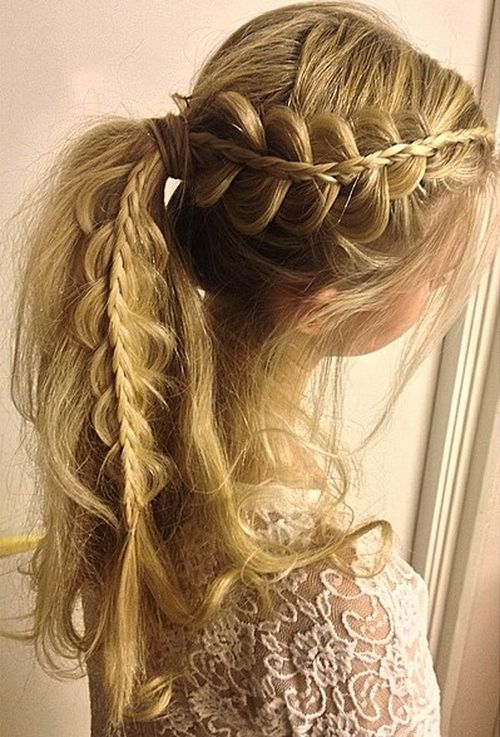 pretty french braid ponytail ideas