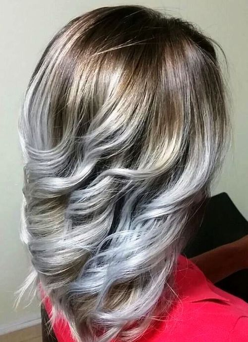 20 Stylish Designs To Have Silver And White Hair 2019
