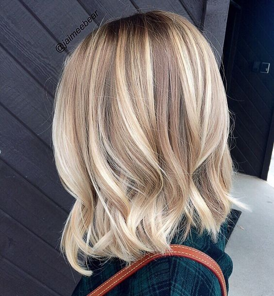 shoulder length blonde hair styles 20 lovely medium length haircuts for 2017 meidum hair 4813 | Balayage Medium Wavy Hairstyles Chic Shoulder Length Hair Cuts for Women 2017