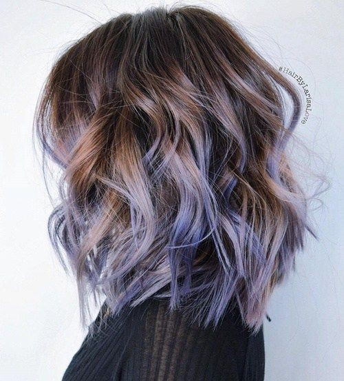curly-lob-hair-cuts-2017-prettiest-pastel-hair-ideas-purple-and-brown