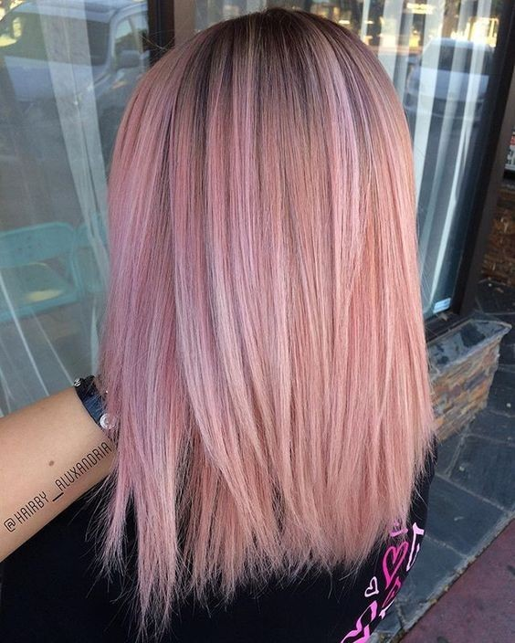 straight-lob-haircuts-for-thick-hair-ombre-balayage-pastel-hair-styles