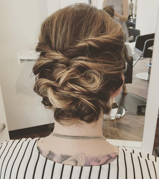 27 Trendy Updos For Medium Length Hair Updo Hairstyle Ideas