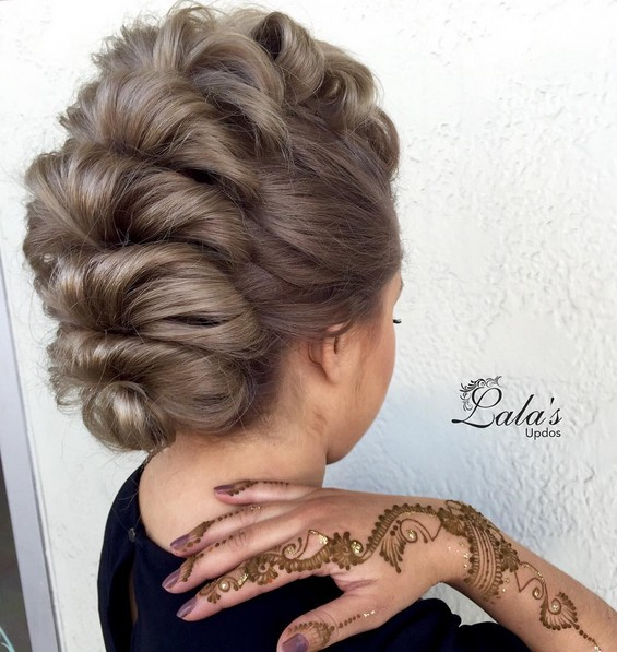 updo styles for shoulder length hair 27 trendy updos for medium length hair updo hairstyle 8875
