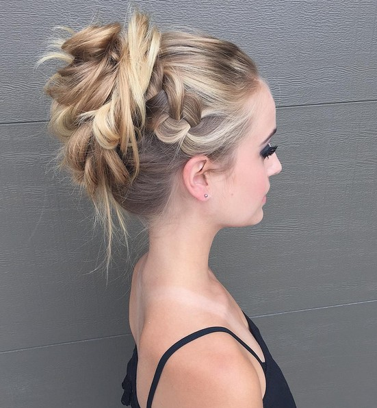 27 Trendige Hochsteckfrisuren Für Mittellanges Haar Bestefrisur