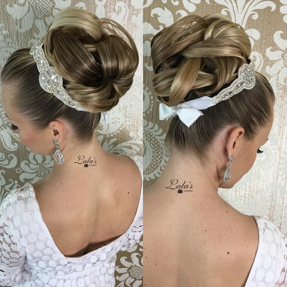 27 trendy updos for medium length hair updo hairstyle ideas for 2017 bridal big bun updo hairstyles trendiest updos for medium length hair pmusecretfo Choice Image