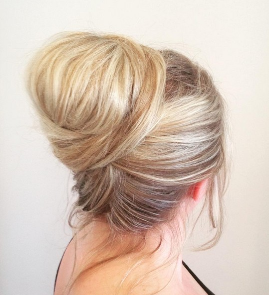 27 Trendy Updos For Medium Length Hair Updo Hairstyle Ideas For 2019