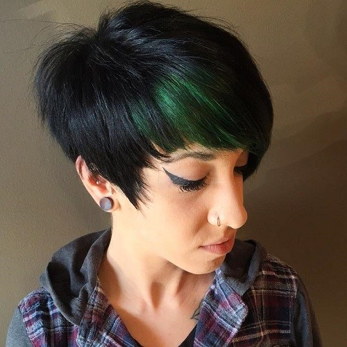 Black and Green Pixie